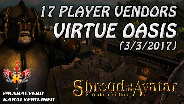 Virtue Oasis, 17 Player Vendors Found 💰 Shroud Of The Avatar Gameplay (Market Watch)