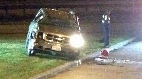 Driver killed in single vehicle rollover accident on 610