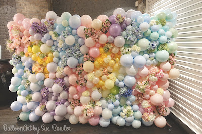 Balloon and Flower Wall by Sue Bowler - www.suebowler.com