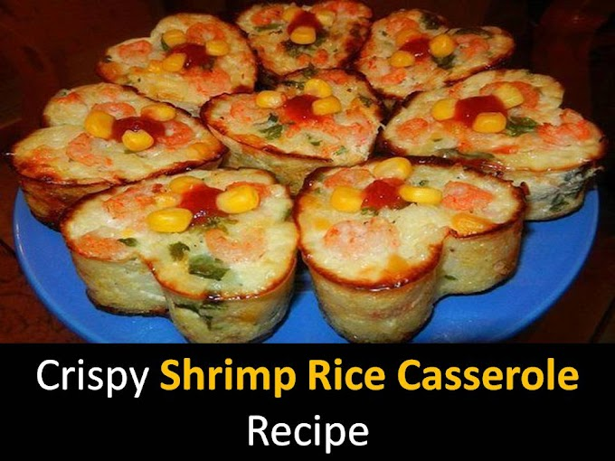 Crispy Shrimp Rice Casserole recipe