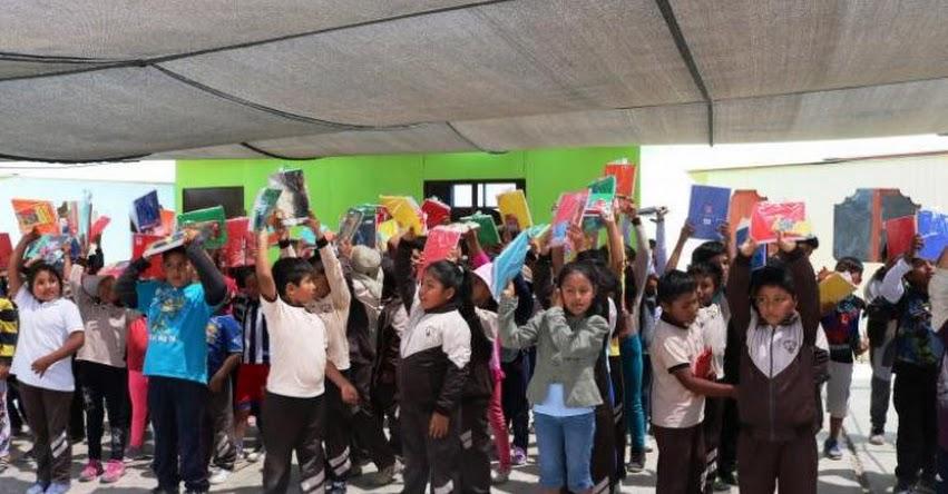 UNJBG entregó útiles a escolares del Centro Poblado Viñani - Tacna