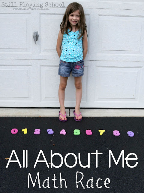 All About Me Preschool Unit: Kids race to get numbers to answer questions!