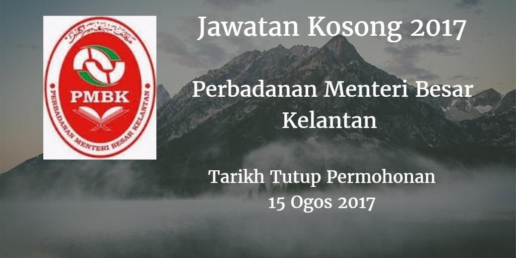 Jawatan Kosong PMBK 15 Ogos 2017