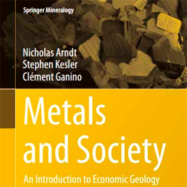Metals and society an introduction to economic geology