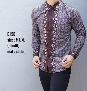 Desain baju batik gaul untuk pria muda