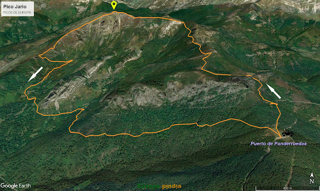 Ruta señalizada al Pico Jario