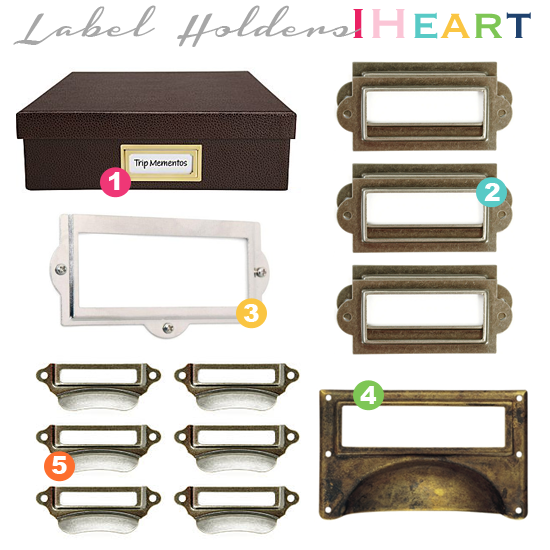 IHeart Organizing: Labeling 101: Label Holders