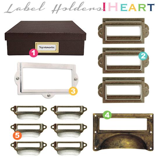 IHeart Organizing: Labeling 101: Label Holders