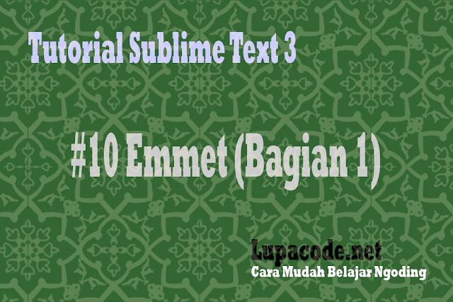 Sublime text 3 - Plugin Emmet