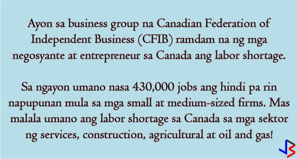 There are more than 430,000 jobs in Canada that are still unfilled! This is according to a business group that gives a warning about the worsening labor shortage in the country.   According to the Canadian Federation of Independent Business (CFIB), those jobs both include small and medium-sized firms that are still unfilled for at least four months.   The job vacancy rate has risen to 3.3 percent, from 2.9 percent a year ago, the Canadian Federation of Independent Business (CFIB) said in a report. CFIB said that the data is above records set before the 2008 financial crisis and businesses are really feeling the pressure.   CFIB noted that labor shortage is worst in the following sectors; Services Construction Agricultural Oil and Gas  Based on the government statistical agency, the unemployment rate fell to 0.1 percent in October and this is a near-record low of 5.8 percent. Prime Minister Justin Trudeau said this is not the right time to cut immigration due to the concern of entrepreneurs and businesses to the worsening labor shortage.