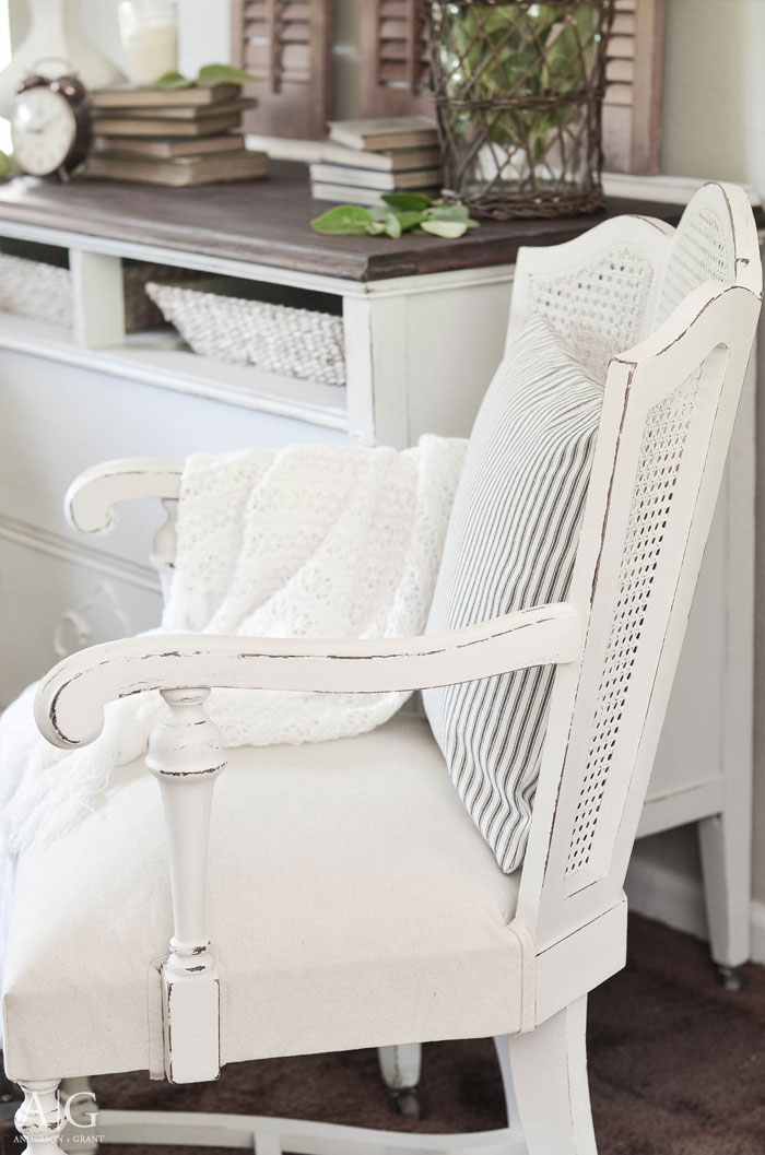 Cane Back Chairs For Sale Foot Massage Chair Vintage Gets A Farmhouse Style Makeover Anderson Pair Of Backed Found At Garage Are Given Stunning