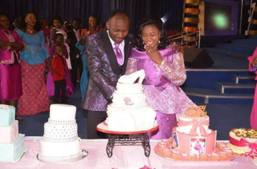 Apostle Suleman Gives Wife Petrol Station, Shopping Mall, Transport Company As Birthday Gift (Photos)