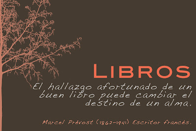Meme de una cita de Marcel Prévost sobre los libros