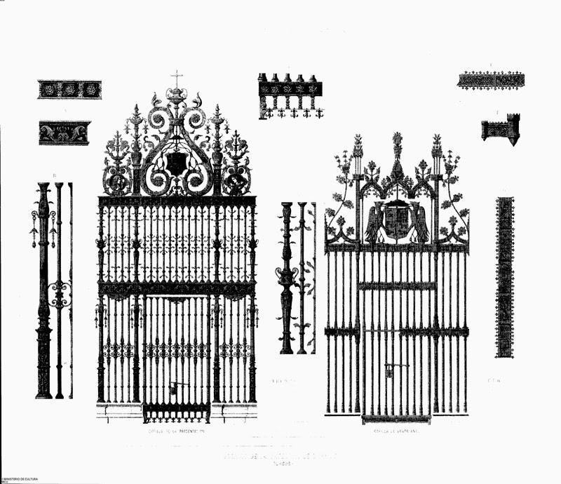 Dibujo rejas capilla santa Ana Burgos