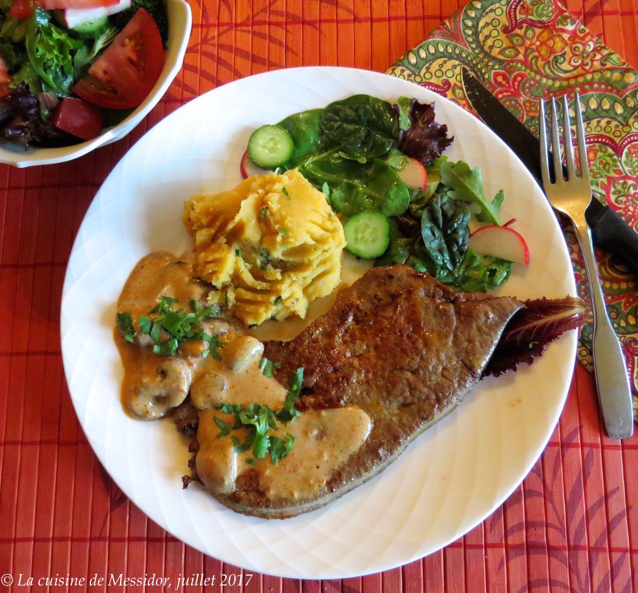La cuisine de messidor foie de veau sauce la cr me de for Accompagnement cuisine