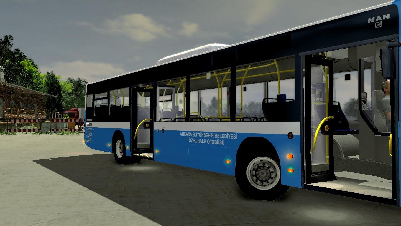 City Bus Simulator 2012 München Ankara Halk Otobüsü Skin Boyama