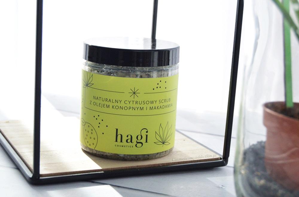 Hagi, naturalny cytrusowy scrub z olejem konopnym i makadamia
