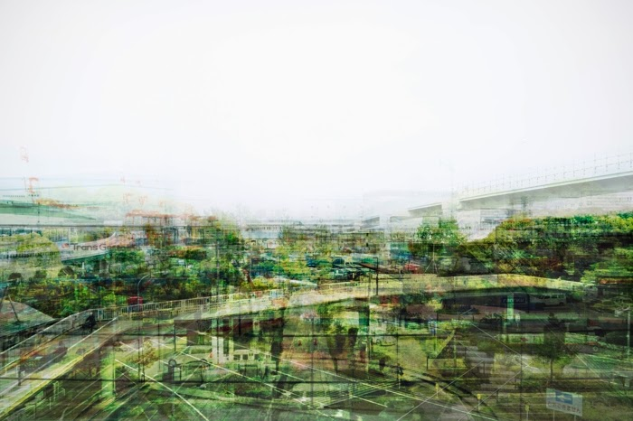©Takatoshi Masuda - Beyond the Train window. Photography Multi-exposure landscape