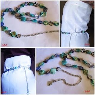 kalung batu etnik udah jadi sabuk keren