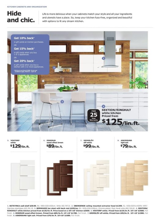 Ikea Flyer March 5 April 6 2018 The Kitchen Event Weekly Flyers Canada