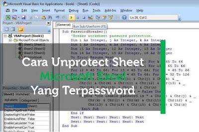 Artikel ini memang berjudul cara unprotect sheet excel tapi tujuan pembuatan artikel ini a Geveducation:  [BARU] Cara Unprotect Sheet Microsoft Excel yang Terpassword
