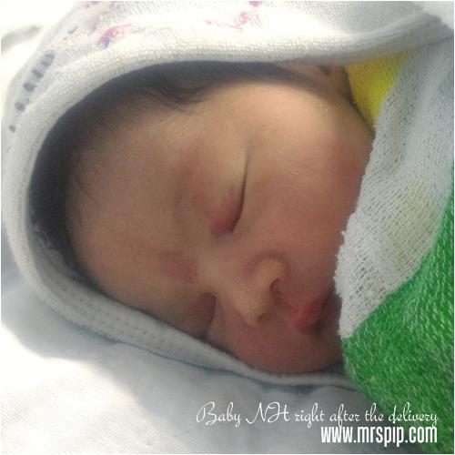 Baby NH sejurus selepas kelahiran