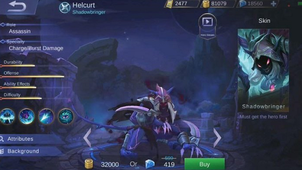 Kabar mencengangkan datang lagi dari game terbaik saat ini Hero Helcurt Mobile Legends, Hero Terbaru Berbentuk Binatang Melata