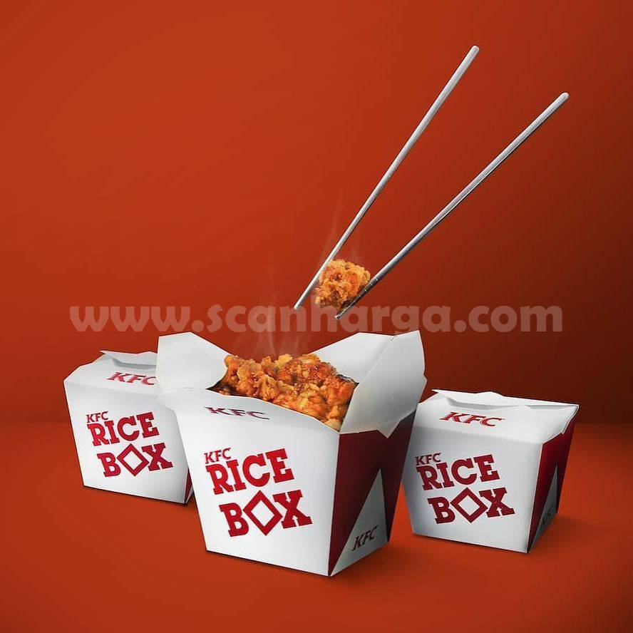 Harga Promo KFC RICE BOX Chicken Menu Terbaru