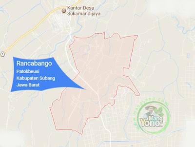 PETA : Desa Rancabango, Kecamatan Patokbeusi