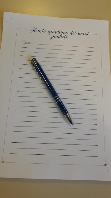 Pagina di Il mio quaderno dei nomi perduti