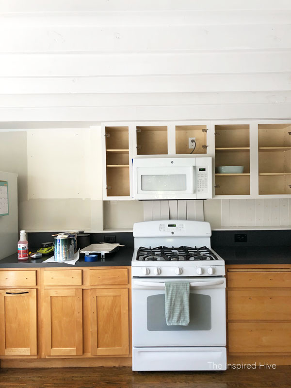 One Room Challenge week two- vintage farmhouse kitchen makeover progress