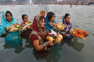 happy chhath festival in Terai Nepal