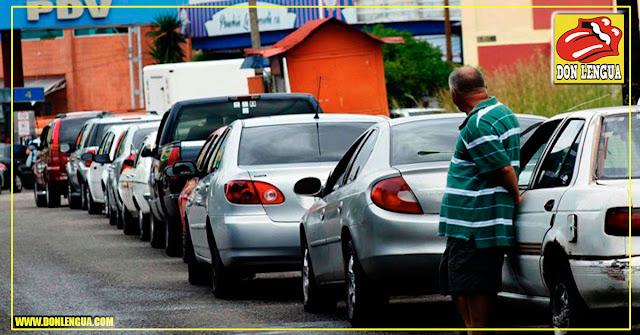 Queda gasolina para 7 a 0 días de consumo en toda Venezuela