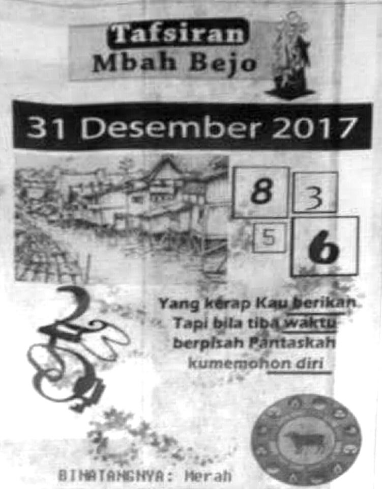 Prediksi Harian Terlengkap Cepat Update Hk 31 Desember 2017 Kode Syair Sgp Hk Sd Motesia
