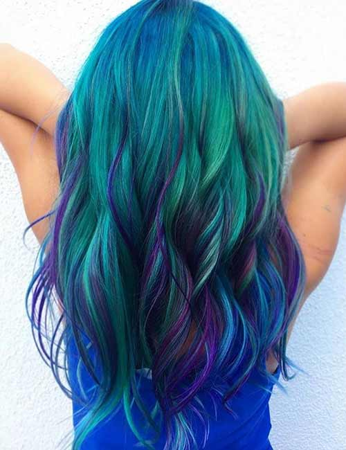 Mermaid Hair Color Idea - Jaded Purple