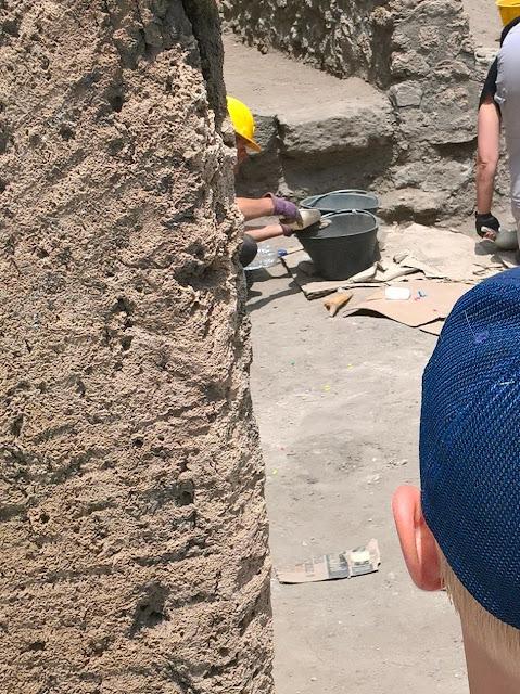 Archaeologen bei der Arbeit
