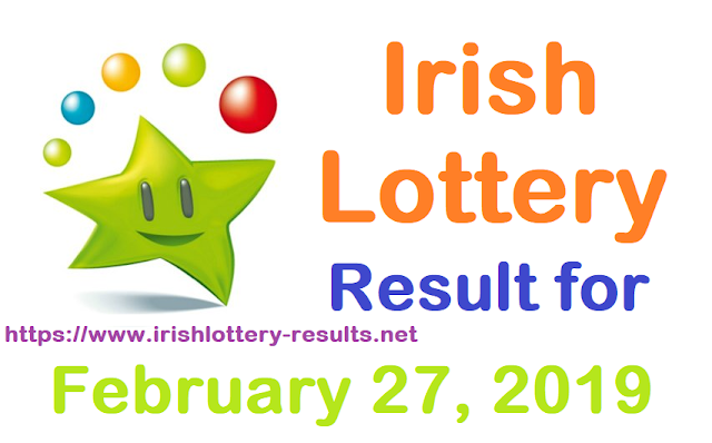 Irish Lottery Results for Wednesday, 27 February 2019
