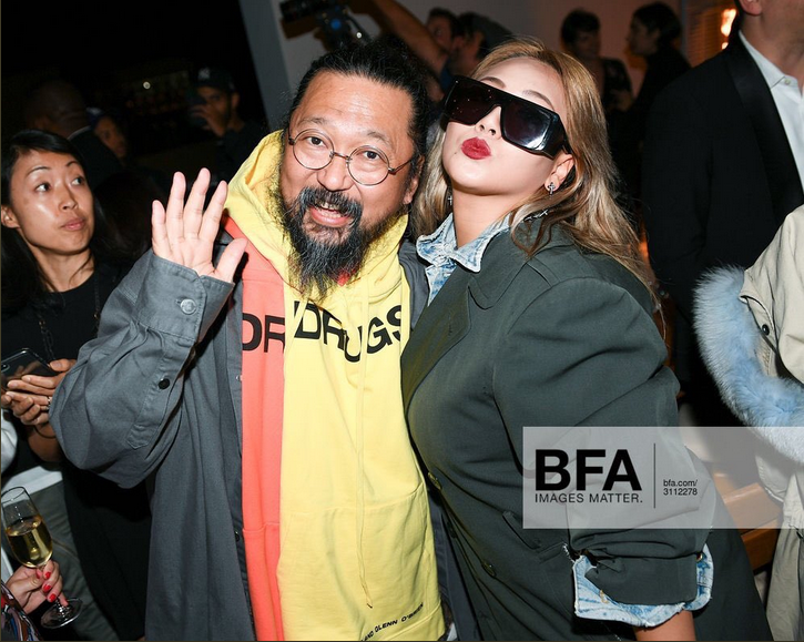 """CL at Murakami and Abloh's """"America too"""" event in Los Angeles"""