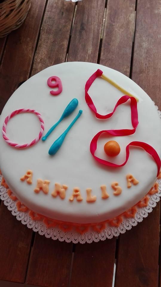 Zucchero e ginnastica ritmica for Decorazione torte ginnastica ritmica