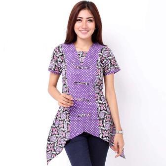 Model Baju Batik Wanita Gemuk Sedang