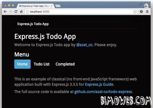 ToDo App with Node.js