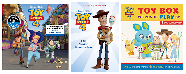 Toy Story 4 book covers
