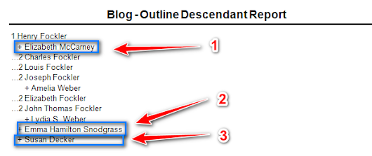 User Question: Multiple Marriages in an Outline Decendant Report (ODR)