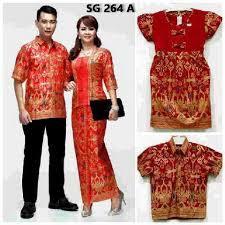 Baju Batik Couple Keluarga Untuk Pesta Modern