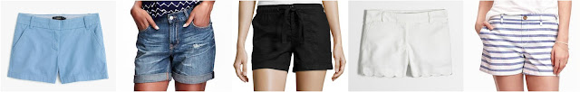 "4"" Chino Short • J.Crew • $29.99–39.50 Distressed Boyfriend Denim Shorts for Women (5"") • Old Navy • $19.97 (reg $25) STYLUS Stylus Linen Shorts • $17.99 (reg $30) Factory 4"" scallop-hem short • J.Crew Factory • $29.50 (reg $50) Relaxed Mid-Rise Shorts for Women (3 1/2"") • Old Navy • $15"