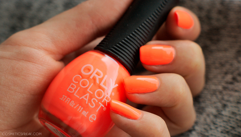 orly color blast nailpolish muscle beach