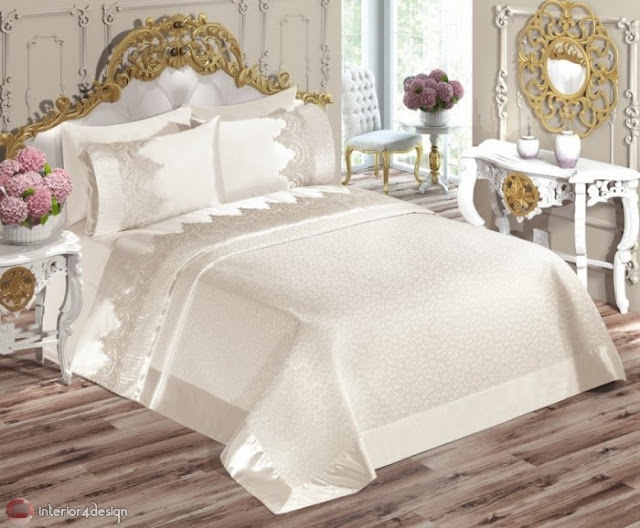 Modern Bed Embroidered Linens 8