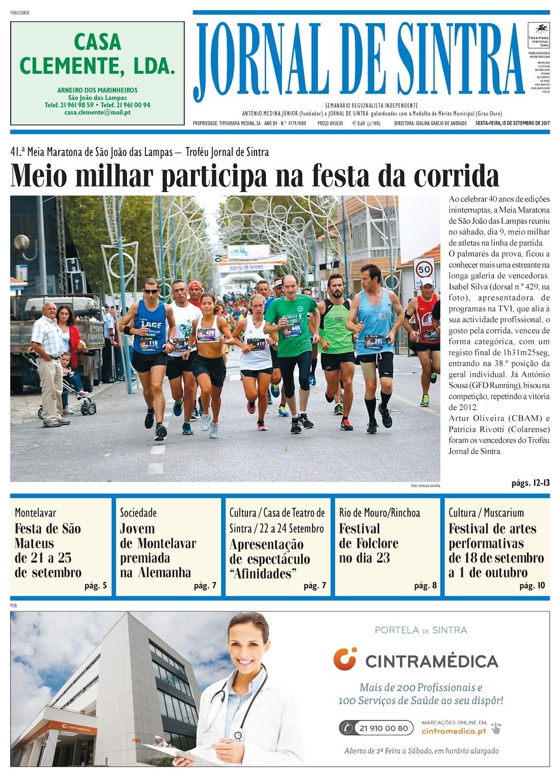 Capa da edição de 15-09-2017