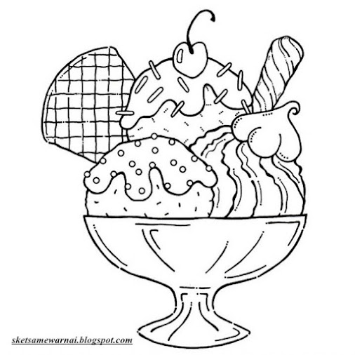 Gambar Mewarnai Es Cream