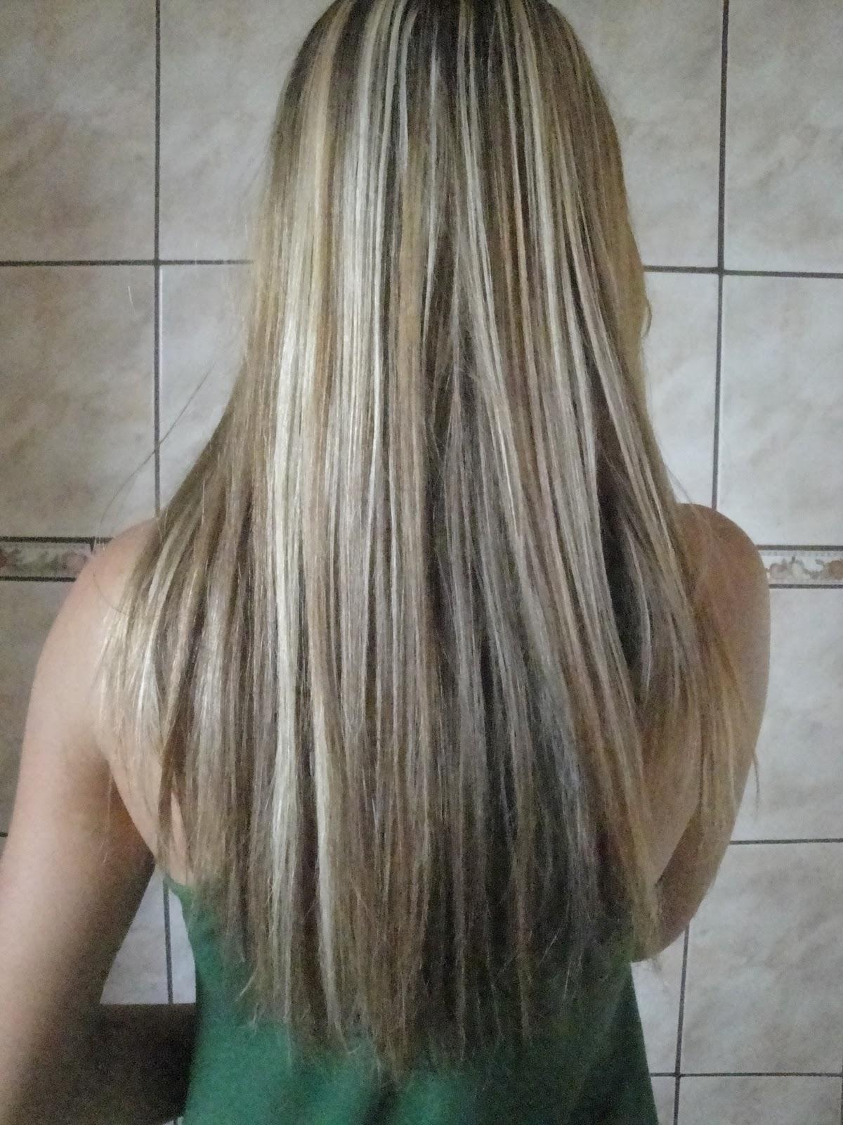 76bb034ad Segunda vez que faço luzes no meu cabelo e claro uma boa hidratação pois  quebra muito o cabelo, a ponta do meu cabelo está cheia de pontas duplas,  ...